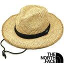 【3/1限定!楽天カードで6倍】THE NORTH FACE ノースフェイス メンズ・レディース ストローハット Raffia Hat ラフィ…