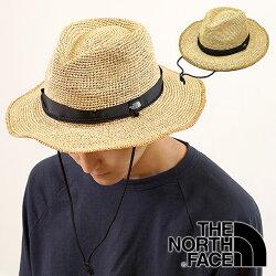 【即納】THENORTHFACEザ・ノースフェイスメンズ・レディースストローハットRaffiaHatラフィアハット麦わら帽子(NN01554SS18)【コンビニ受取対応商品】
