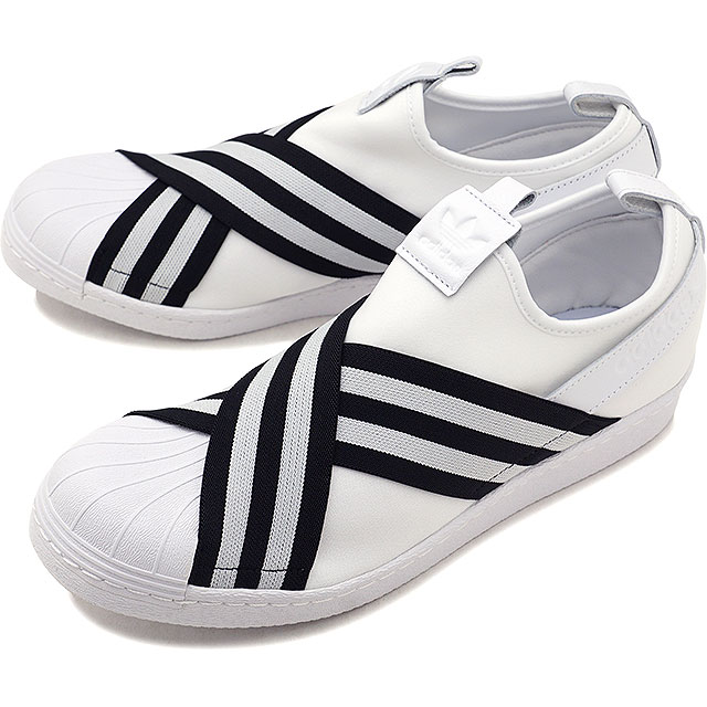 【即納】adidas アディダス スニーカー 靴 メンズ・レディース オリジナルス SUPERSTAR SLIPON W スーパースター スリッポン Rホワイト/Rホワイト/コアブラック (AC8581 SS18)【コンビニ受取対応商品】