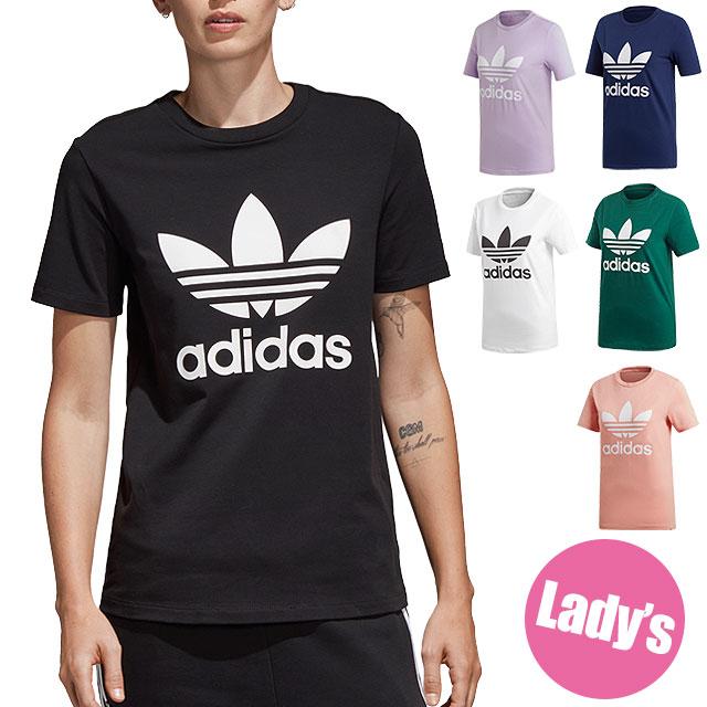 【即納】【メール便可】adidas アディダス Tシャツ レディース TREFOIL TEE トレフォイル Tシャツ adidas Originals アディダスオリジナルス (EKC86/CV9888 SS18)【コンビニ受取対応商品】