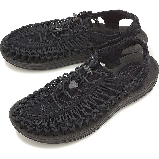 【即納】KEEN キーン メンズ サンダル 靴 UNEEK 3C MEN ユニーク スリーシー Black/Black (1014097)【コンビニ受取対応商品】