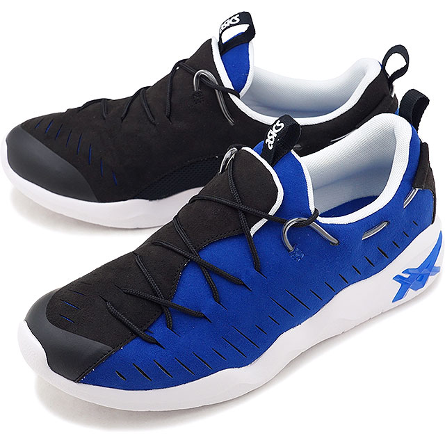 【50%OFF/SALE】asics TIGER アシックスタイガー スニーカー 靴 GEL-MAI RB ゲル マイ RB メンズ・レディース BLACK/A.BLUE [H802N-001 FW18][ts][e]