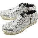 【即納】TOPSEVENトップセブンTS-2103サイドジップレザースニーカーW/SILメンズ・レディース靴シューズ(SS18)【コンビニ受取対応商品】