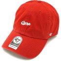 【即納】フォーティーセブン'47キャップCarpミニロゴスクリプトCLEANUPカープメンズレディースアジャスタブル帽子RED(BSRNR05GWS)【コンビニ受取対応商品】