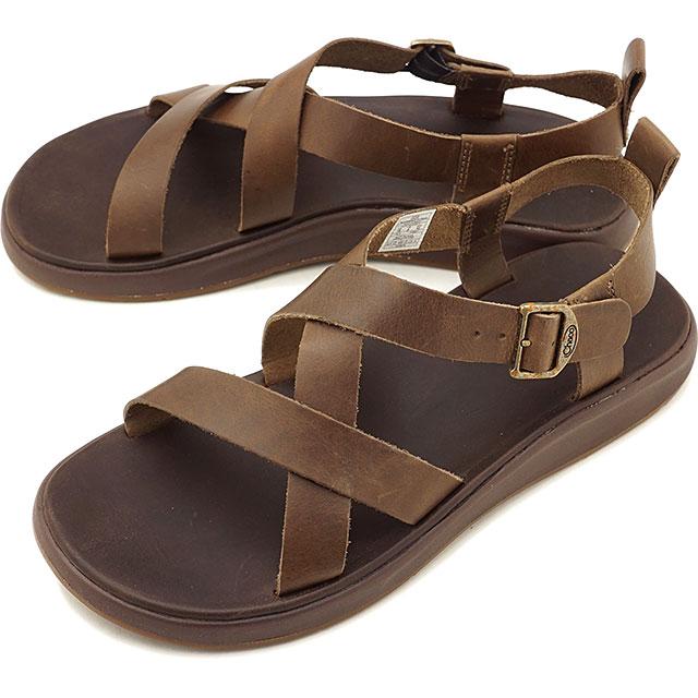 【即納】チャコ Chaco メンズ ウェイファーラー MNS WAYFARER レザーストラップ アウトドア サンダル 靴 OTTER ブラウン系 [J106647 SS19]