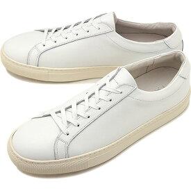 【9/24まで!楽天カードで最大21倍】ヨーク YOAK メンズ スタンレー STANLEY レザースニーカー 日本製 靴 WHITE ホワイト系 [ SS19]