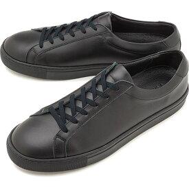 【9/24まで!楽天カードで最大21倍】ヨーク YOAK メンズ スタンレー STANLEY レザースニーカー 日本製 靴 BLACK ブラック系 [ SS19]