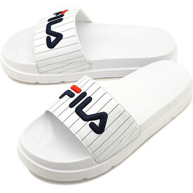 【40%OFF/SALE】フィラ FILA ドリフター ジャッキアップ ストライプ DRIFTER JACKED STRIPE メンズ・レディース 厚底 ストラップサンダル 靴 ホワイト [F0372-2091 SU19]【ts】【e】