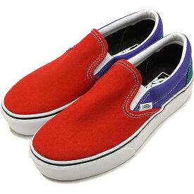 【10%OFFクーポン対象品】バンズ VANS クラシック スリップオン プラットフォーム CLASSIC SLIP-ON PLATFORM メンズ レディース 厚底 スニーカー 靴 TANGO RED/LIBERTY マルチカラー [VN0A3JEZVN7 SS19]