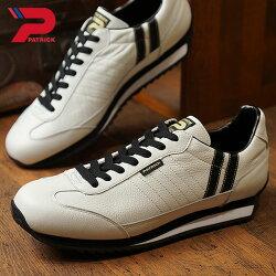 【返品送料無料】【限定復刻モデル】パトリックPATRICKマラソン・レザーMARATHON-Lメンズレディーススニーカー日本製靴W/Bホワイト系[98900]