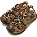 【20%OFF/SALE】キーン KEEN サンダル ウィスパー W WHISPER [1019475 SS19] レディース スポーツサンダル キャンプ アウトドア 靴 CANTEEN/LANGOUSTINO ブラウン系【ts】【e】