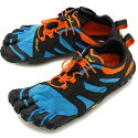 ビブラムファイブフィンガーズVibramFiveFingers5本指シューズV-Trail2.0[19M7603SS20]メンズベアフットスニーカー靴Blue/Orangeグリーン系