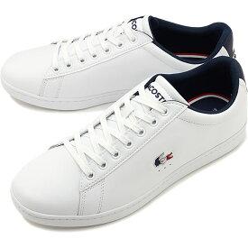 【楽天カードで12倍】ラコステ LACOSTE メンズ カーナビー エヴォ M CARNABY EVO TRI 1 スニーカー 靴 WHT/NVY/RED ホワイト系 [SMA0033L-407 SS20]