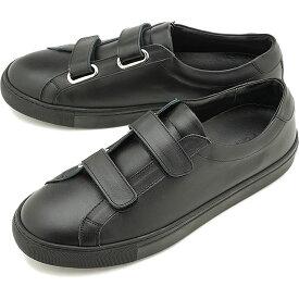 【9/24まで!楽天カードで最大21倍】ヨーク YOAK 国産スニーカー ルーク LUKE [ SS20] メンズ 日本製 ベルクロ レザーシューズ 靴 BLACK ブラック系