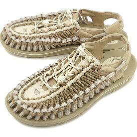 【先着でオリジナルグッズプレゼント!】【40%OFF/SALE】KEEN キーン サンダル ユニーク フラット M UNEEK FLAT [1023063 SS20] メンズ アウトドア スニーカー 靴 Safari/Silver Birch ベージュ系【ts】【e】
