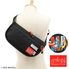 【コラボ】マンハッタンポーテージ Manhattan Portage × MARVEL 斜め掛け マーベル リードアウト ウェストバッグ Leadout Waist Bag [MP1115MARVEL20SS SS20] メンズ・レディース ファニー ボディバッグ Black ブラック系