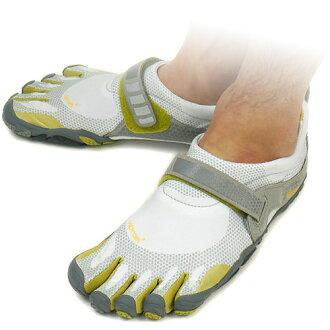 Vibram FiveFingers口水巾羊羔五手指人BIKILA Light Grey/Palm/Dark Grey口水巾羊羔五手指5部手指鞋提高基本工資脚(M345)