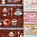 【オックス生地】チョコレートスイーツ【CLASSICAL MODERN クラシカルモダン】【チョコ ケーキ バレンタイン 女の子 日本製 入園入学 …