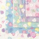 【シーチング生地】キャンディーハーツ【candy hearts】【カラフル ポップ ハート メッセージ パステルカラー ゆめかわいい キャンディ…