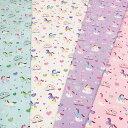 【オックス生地】ベイビーユニコーン【カラフル ポップ 虹 パステルカラー ゆめかわいい かわいい アニマル unicorn 入園入学 通園 巾…