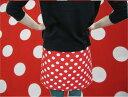 【10m巻】【ブロード生地】大きめ赤水玉/ドット【楽天 週間ランキング入賞】【送料無料】【生地の色に合わせたシャッ…