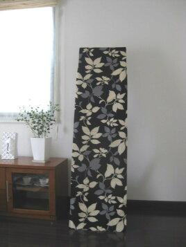 ■カーテンとの相性もいい立ち鏡・姿見用縦160cmまで対応ミラーカバーモダンリーフ柄【日本製】【05P12Sep11】