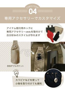 ショートエプロン日本製Mサイズ無地ポケットたくさん静電気防止制電機能的ショート丈プレゼント贈答用ギフトapronユニフォームメール便不可