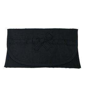 ブラックフォーマル リボン ふくさポーチ のし袋ポーチ 袱紗入れ ハンドメイド 日本製 【メール便可】