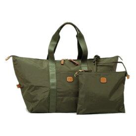 ブリックス BRIC'S X-Bag Xバッグ ナイロン 折り畳み 携帯用 ショルダーバッグ付 ボストンバッグ キャリーオンバッグ 23L オリーブ [レディース] BXG40203 078