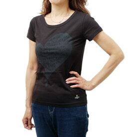 ヴィヴィアン ウェストウッド Vivienne Westwood オーガニックコットン 半袖 Tシャツ ブラック [レディース] S26GC0183 S22634 900