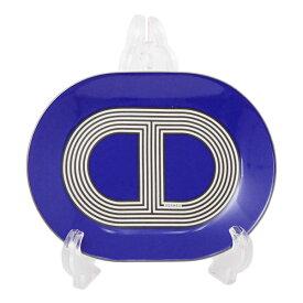 エルメス HERMES ラリー24 オーバルプレートミニ 15cm ブルー 食器 皿 陶器 032389【2点購入で純正箱付】