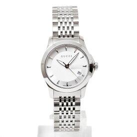 グッチ GUCCI Gタイムレス クォーツ 腕時計 ウォッチ シルバー [レディース] YA126501【○K6】