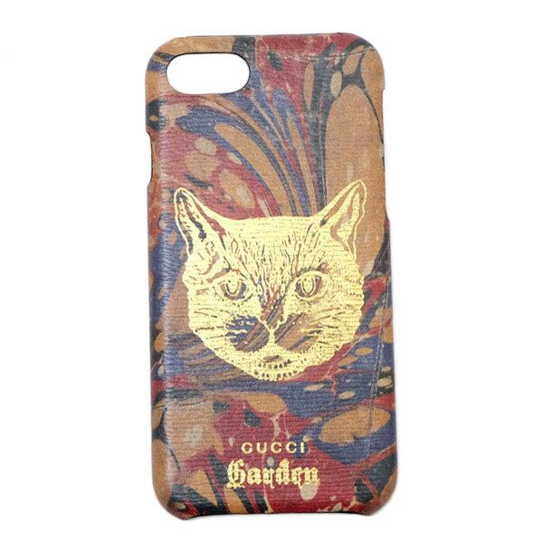 グッチガーデン GUCCI Garden アニマルプリント iPhone8用 スマホケース カバー ブラウン基調 530631 0MYD0 9842