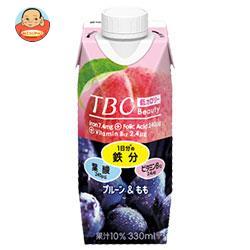 森永乳業 TBC 鉄分+葉酸+ビタミンB12 プルーン&もも(プリズマ容器) 330ml紙パック×12本入