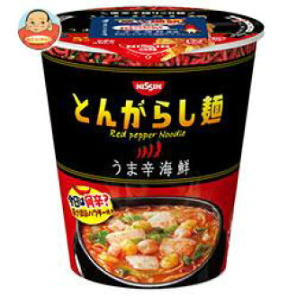 Of Nissin Food Products Sino-Japanese let be sharp; noodles horse 辛海鮮 64 g *12 case