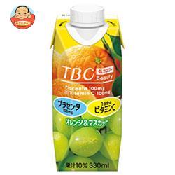 森永乳業 TBC プラセンタ+ビタミンC オレンジ&マスカット(プリズマ容器) 330ml紙パック×12本入