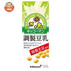 キッコーマン 焙煎大豆 調製豆乳 200ml紙パック×18本入