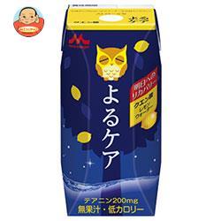 森永乳業 よるケア クエン酸 レモン(プリズマ容器) 200ml紙パック×24本入