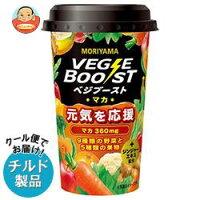 【チルド(冷蔵)商品】守山乳業VEGEBOOST(ベジブースト)マカ180g×12本入
