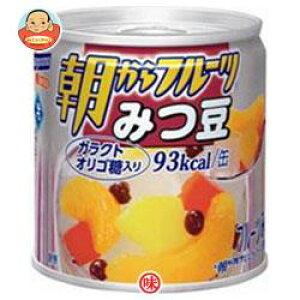 送料無料 【2ケースセット】はごろもフーズ 朝からフルーツ みつ豆 190g缶×24個入×(2ケース) ※北海道・沖縄は別途送料が必要。