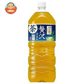 送料無料 サントリー 緑茶 伊右衛門(いえもん) 贅沢仕込み 2Lペットボトル×6本入 ※北海道・沖縄は別途送料が必要。