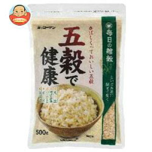 送料無料 キッコーマン 五穀で健康 500g×12袋入 ※北海道・沖縄は別途送料が必要。