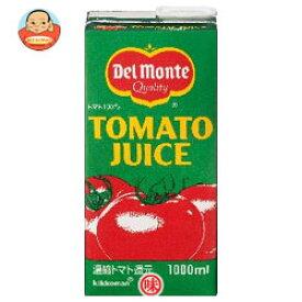 【送料無料】【2ケースセット】デルモンテ トマトジュース1L紙パック×12(6×2)本入×(2ケース) ※北海道・沖縄は別途送料が必要。