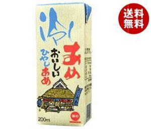 送料無料 毎日牛乳 毎日冷しあめ 200ml紙パック×24本入 ※北海道・沖縄・離島は別途送料が必要。