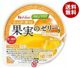 【送料無料】【2ケースセット】ハウス食品 やさしくラクケア たんぱく質5g 果実のゼリー すっきりオレンジ 65g×48(12×4)個入×(2ケース) ※北海道・沖縄・離島は別途送料が必要。