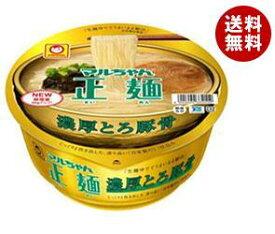 送料無料 東洋水産 マルちゃん正麺 カップ 濃厚とろ豚骨 116g×12個入 ※北海道・沖縄・離島は別途送料が必要。