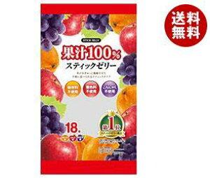 【送料無料】リボン 18本果汁100% スティックゼリー 18本×12袋入 ※北海道・沖縄・離島は別途送料が必要。