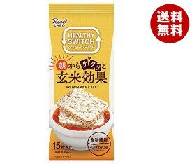 送料無料 幸福米穀 朝からサクッと玄米効果 ブラウンライスケーキ 15枚×12(6×2)袋入 ※北海道・沖縄・離島は別途送料が必要。