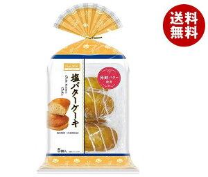 送料無料 【2ケースセット】丸中製菓 塩バターケーキ 5個×6袋入×(2ケース) ※北海道・沖縄・離島は別途送料が必要。