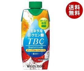 送料無料 森永乳業 TBC ミネラル+クエン酸(プリズマ容器) 330ml紙パック×12本入 ※北海道・沖縄・離島は別途送料が必要。